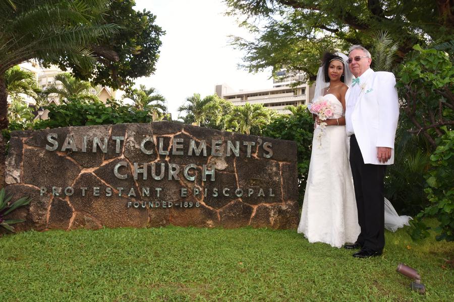 Honolulu community church wedding